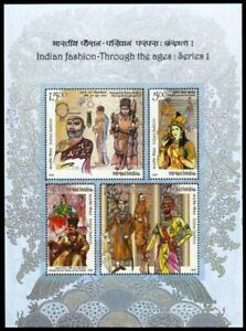 India 2018 MNH SS, Fashion Through the ages, Costume, King, Royal people