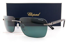 New Chopard Sunglasses SCH B76 568Z Gunmetal/Grey Green Polarized  For Men