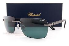 New Chopard Sunglasses SCH B76 568Z Gunmetal/Grey Green Polarized  For Men