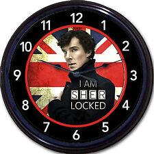Sherlock Holmes London UK Cumberbatch Conan Doyle Watson Crime Wall Clock New