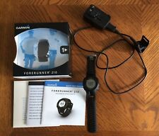 Garmin Forerunner 210 GPS Watch Black w/ cable charger, manual, CD and box