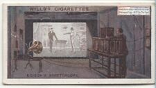 Edison's Kinetoscope Moving Picture Invention 1915  Ad Trade Card