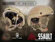 Ballistic IIIA SOHAH Gunfighter Kevlar Helmet SEAL -Assault Tactical Mich M/L