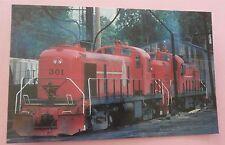 Ann Arbor Railroad #301 2 Red Roadswitchers Train Postcard