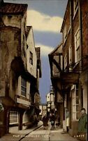 York England ~1950/60 The Shambles Straßenpartie Personen Valentine Post Card