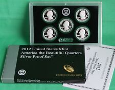 2012 America the Beautiful Quarters 90% Silver Proof US Mint Set 25 Cents 5 ATB