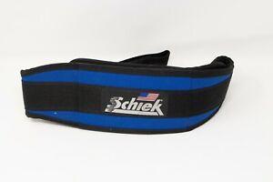 "Schiek Sports Model 2004 Blue Nylon 4 3/4"" Weight Lifting Belt Size M"