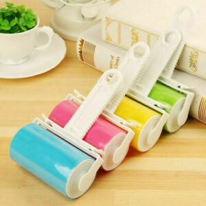 2PCS STICKY LINT ROLLER SET DUST PET HAIR REMOVER WASHABLE CLEANING RE-USEABLE
