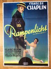 Rampenlicht (Kinoplakat '54) - Charles Chaplin / Claire Bloom
