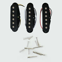 Black Alnico 5 Strat Electric Guitar Pickup Set SSS Single Coil Pickups N/M/B