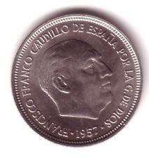 ESPAÑA 5 Pesetas FRANCO 1957 estrella 73 S/C de cartucho (año 1973)