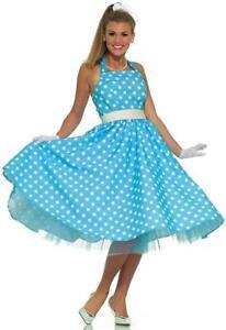 Summer Daze 50's Sock Hop Retro Polka Dot Fancy Dress Halloween Adult Costume