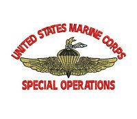 USMC Marine Corps Special Operations Wings with Torch Embroidered Polo Shirt