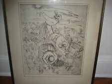 """Signed 1964 Print. The Grape Pickers. Amy Jones  3/50 Framed. 20"""" x 24'"""