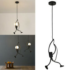 Modern Charming Hanging Chandelier Creative Iron People Lamp Elegant Hanger A