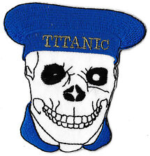 patch badge Sailor of the Titanic skull badge thermal adhesive patch embroidered