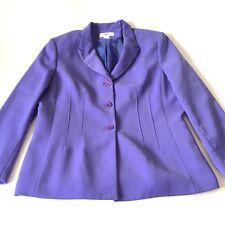 Le Suit 18 Blazer Lavender Purple Jacket Career Womens