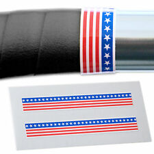 x2 USA American Flag Handlebar Finishing Tape Retro Fixie Racer L'Eroica