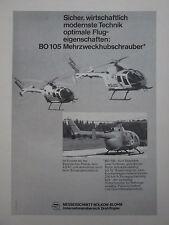 5/1971 PUB MBB HELICOPTER BO 105 HUBSCHRAUBER POLIZEI ADAC ORIGINAL GERMAN AD