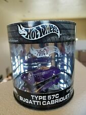 2003 HOT WHEELS SHOW CASE OIL CAN TYPE 57C BUGATTI CABRIOLET DROP TOPS 2/4