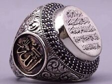 Turkish Handmade 925 s. silver SPECİAL İslamic Mens Ring Sz 11 us free resize