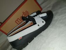 Ladies New Mocks Office Flat loafers  Shoes Size 4 black and off white