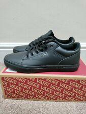Vans Seldan Leather Trainers, Black size uk9