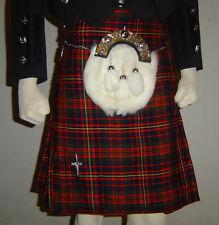 Scottish | Cameron Modern Tartan Heavy Kilt & Kilt Pin | Geoffrey