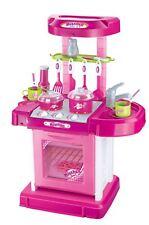 Vinsani Light & Sound Kids Cooking Kitchen Set Pots Pans Pretend Play Food Pink