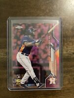 2020 Topps Chrome Update Yordan Alvarez Pink Refractor RC U-53 HOUSTON ASTROS