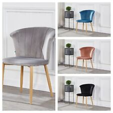 Elsa Crushed Velvet Scallop Shell Chair Soft Comfort Dining Chair Furniture Home