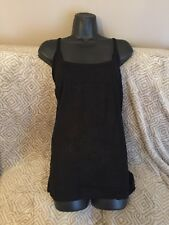 Simply Be Thin Spaghetti Strap Vest Camisole Size 24 Black New Summer Beach