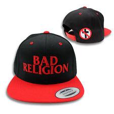 BAD RELIGION LOGO CROSS ATHEIST MUSIC METAL ROCK EMO SNAPBACK ADJUSTABLE HAT CAP