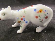 Collectible Franklin Mint Curio Cabinet Faience Cat No Box