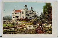 Hollywood Cal Paul De Longprae's Residence 1906 Postcard L17