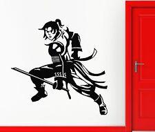 Wall Stickers Vinyl Decal Samurai Japan Anime Manga Warrior Kids Room (ig1662)