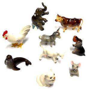 Nine Miniature Animals Hagen Renaker Figurines