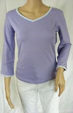 ★ PREGO ★ M  ~ flieder lila ~ Tolles Shirt T-Shirt 3/4-arm ~ Longsleeve ~ NEU