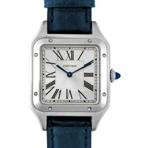 CARTIER  Santos de Cartier  WSSA0022 Silver Dial Men's Watch Genuine FreeS&H