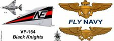 "VF-154 ""Black Knights"" F-4 Phantom mug."