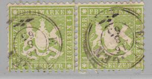 Altdeutschland //Württemberg Mi.Nr 25a  PF 7 geprüft