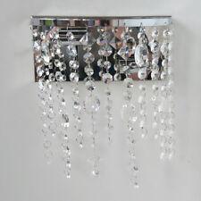 Crystal Effect Pendants Modern Wall Light 2 Light Chrome Clearance Litecraft