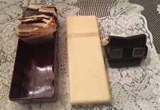 Vintage 1942 Viewmaster Set Bakelite Sawyers in Holding Case w 18 Reels