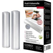 2 Folienrollen Ersatzfolienrollen für Bartscher Vakuumierer Vakuumgerät  28 cm