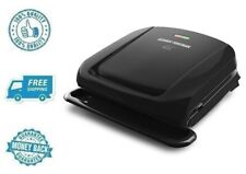 New Black George Foreman 4 Serving Removable Plate Grill & Panini Press Machine
