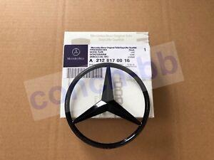 Gloss Black star badge for Mercedes E Class W212 Saloon Rear Boot A2128170016