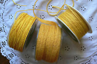 BURLAP Jute YELLOW 2mm to 11mm Wide Mixed Lengths 3 Style Choice BRD4