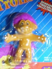 1992 Original NORFIN Troll Doll Just Toys Pink Hair Bendable Bend EMS NOS 12273