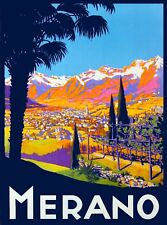Merano Italy Vintage Italian European Travel Advertisement Poster Picture Print