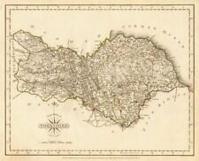 Original Outline Colour 1793 Fine Antique County Map Of Cumberland By John Cary Europe Maps